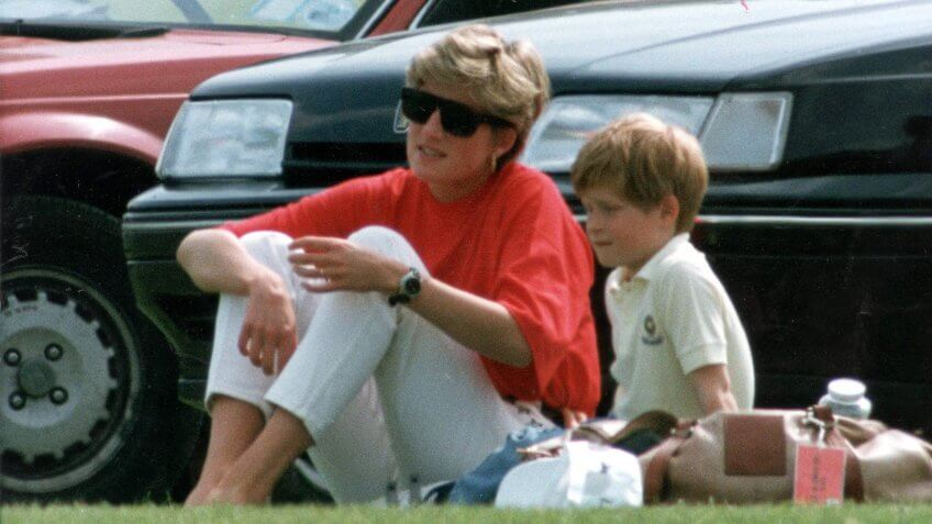 Mandatory Credit: Photo by Mike Hollist/ANL/REX/Shutterstock (3029612a)Princess Diana And Prince Harry At Polo Match At Smith's Lawn 1992 As Everyone Knows Polo Is Not One Of Princess Diana's Passions In Life.