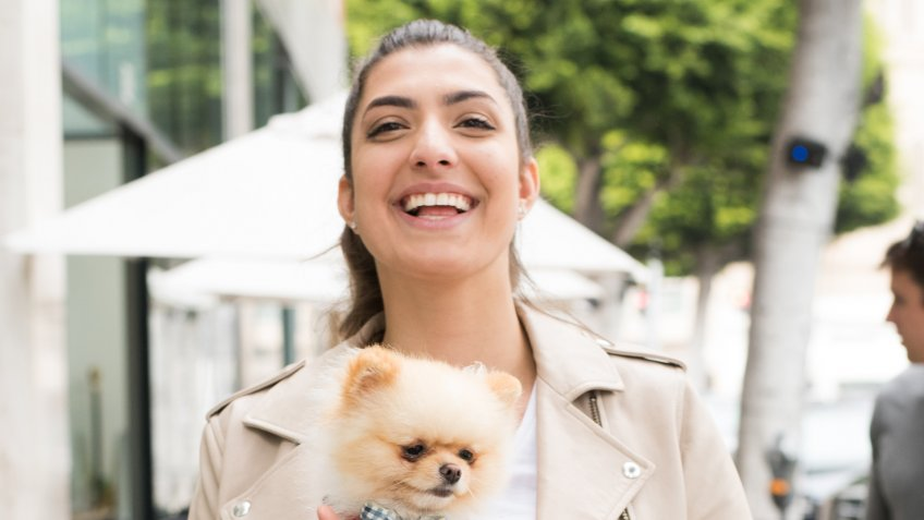 Photo by Rachid Ait/REX/ShutterstockRachel Levin with her puppy 'Neyo Bambi'EXCLUSIVE - Rachel Levin out and about, Los Angeles, USA - 10 Mar 2018.