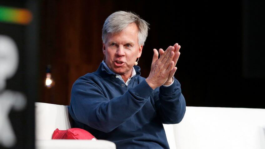 Photo by John Locher/AP/REX/Shutterstock Ron Johnson, CEO of Enjoy, speaks at Shoptalk, a retail and technology conference in Las Vegas.