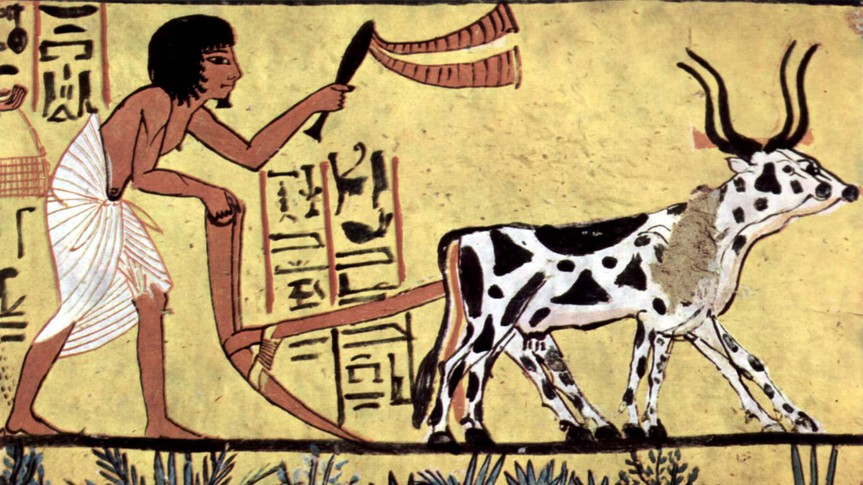 Painter of the burial chamber of Sennedjem, circa 1200 BCE, located in the Tomb of Sennedjem.