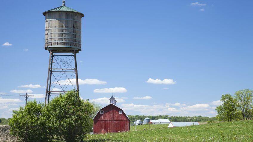 farm in rural Iowa