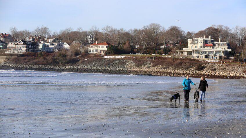 Newport, RI, USA - February 22, 2014.