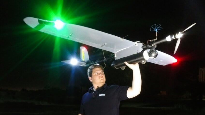 Air Shepherd drone flying at night to catch poachers