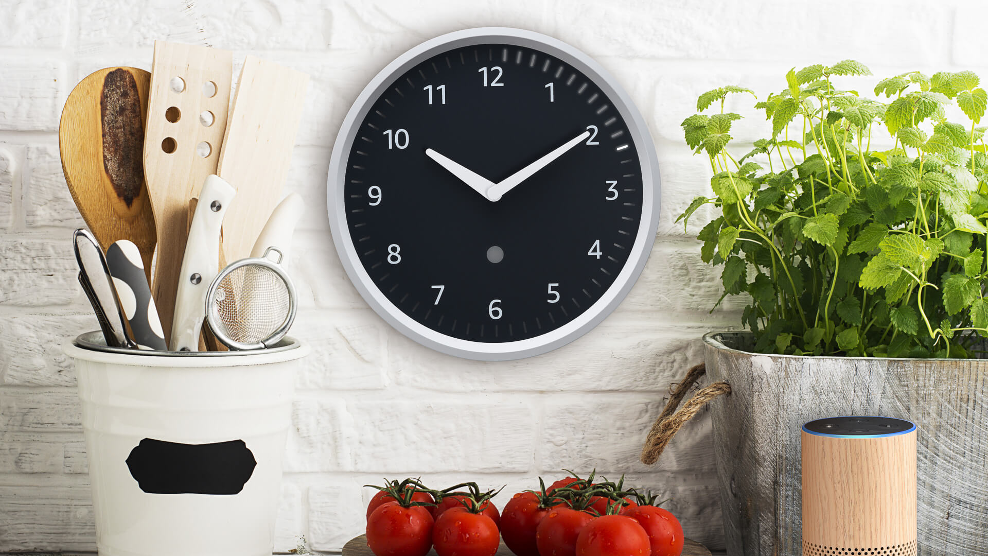 Amazon Echo Clock kitchen