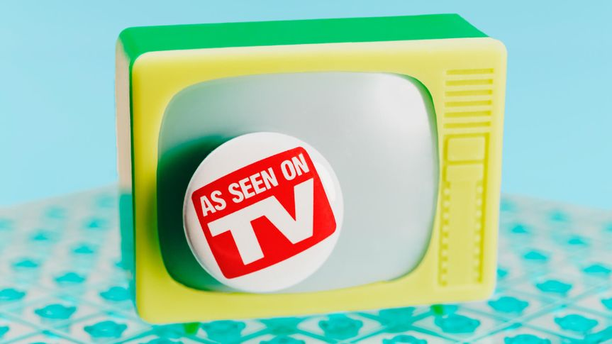 As Seen on TV Sign on Television toy