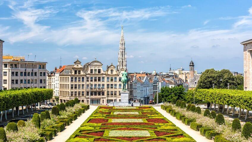 Skyline in Brussels.