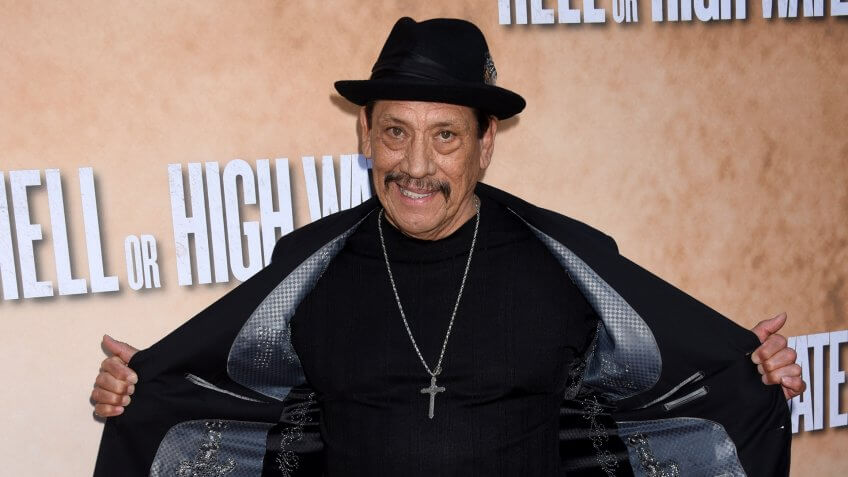 """LOS ANGELES - AUG 10: Danny Trejo arrives to the """"Hell or High Water"""" Los Angeles Special Screening on August 10, 2016 in Hollywood, CA."""