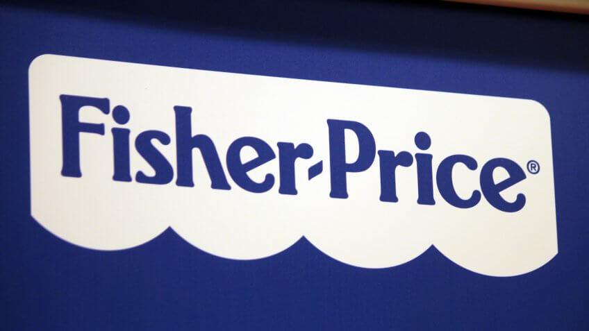 "CIRCA SEPTEMBER 2014 - BERLIN: the logo of the brand ""Fisher Price""."
