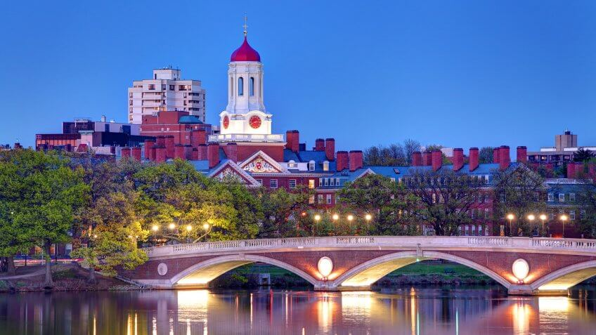 Harvard University along the Charles River.
