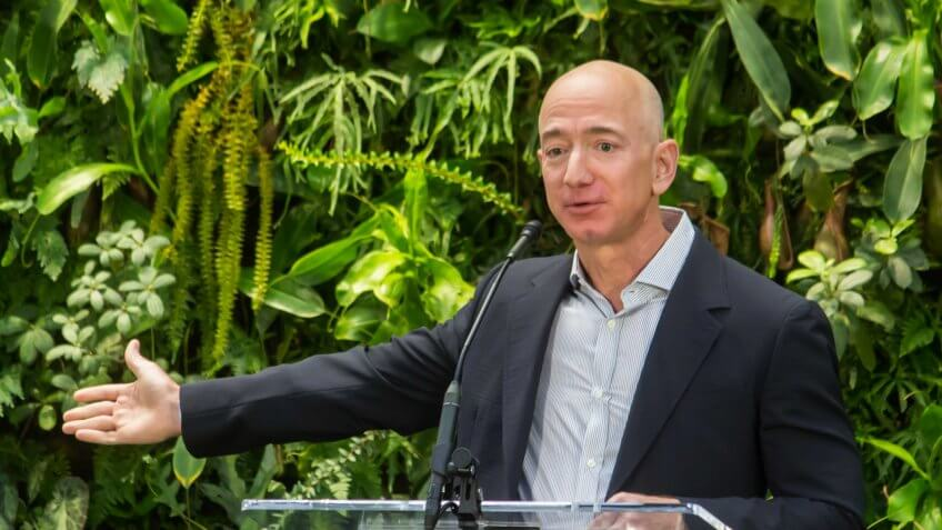 Jeff Bezos at Amazon Spheres Seattle