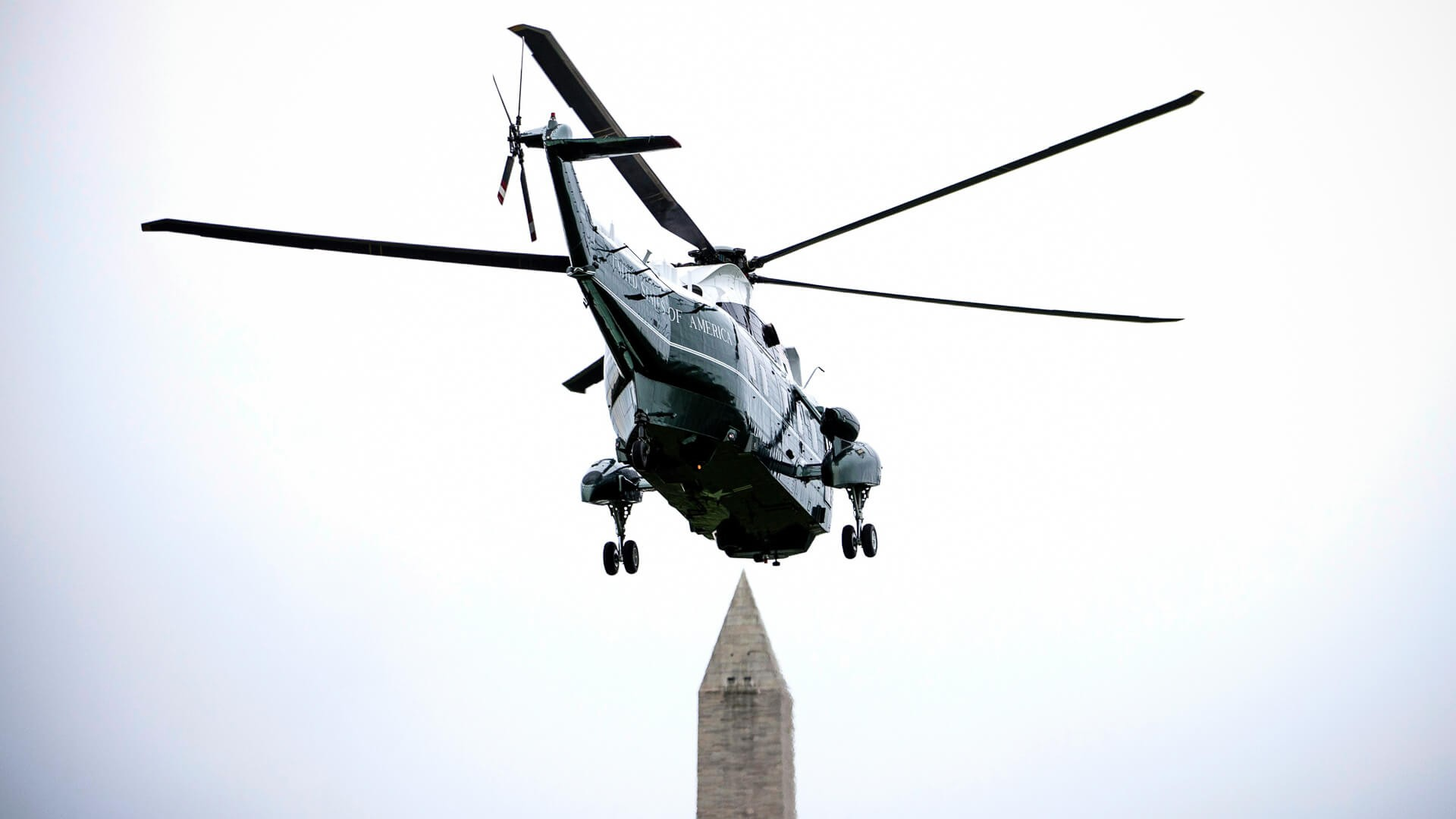 Mandatory Credit: Photo by REX/Shutterstock (9663811m)United States President Donald flies aboard Marine One as it takes off from the South LawnDonald Trump departs White House en Route to Ohio, Washington DC, USA - 05 May 2018President Trump traveled to Cleveland, Ohio to speak at Public Hall ahead of state primary elections.