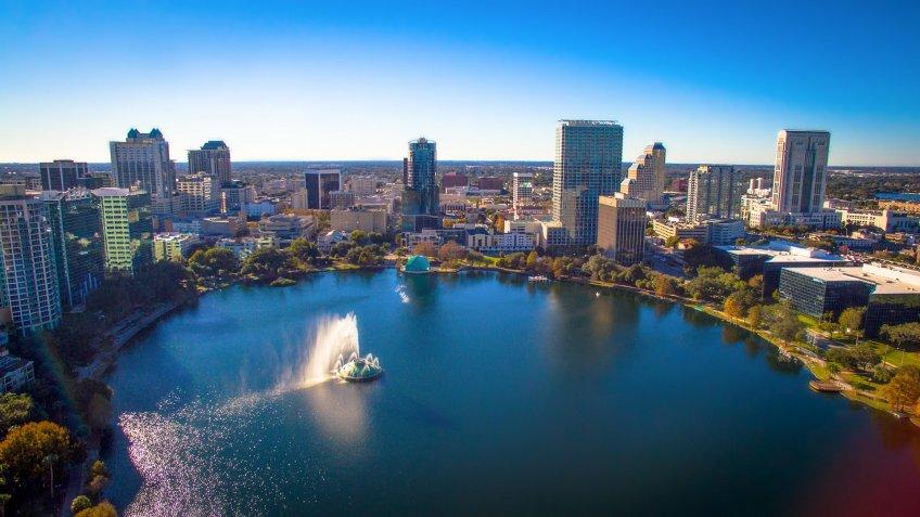 Orlando Florida, Lake Eola.
