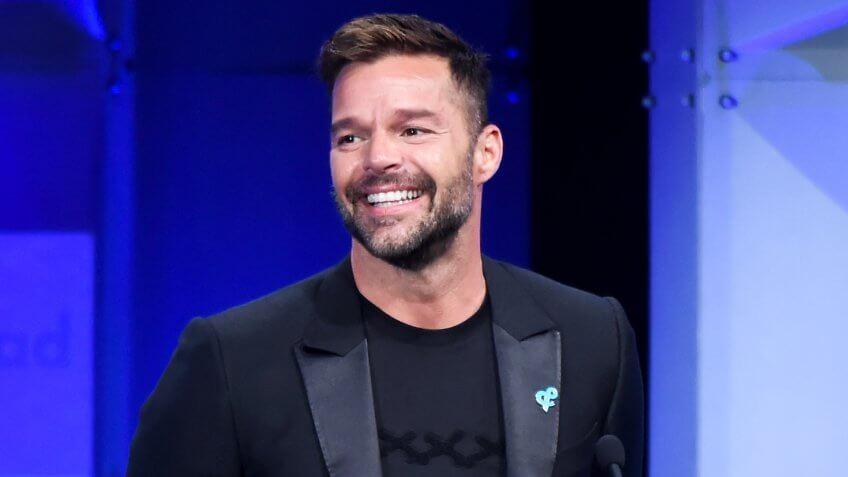 Mandatory Credit: Photo by Michael Buckner/Variety/REX/Shutterstock (9626994bp)Ricky Martin29th Annual GLAAD Media Awards, Inside, Los Angeles, USA - 12 Apr 2018.