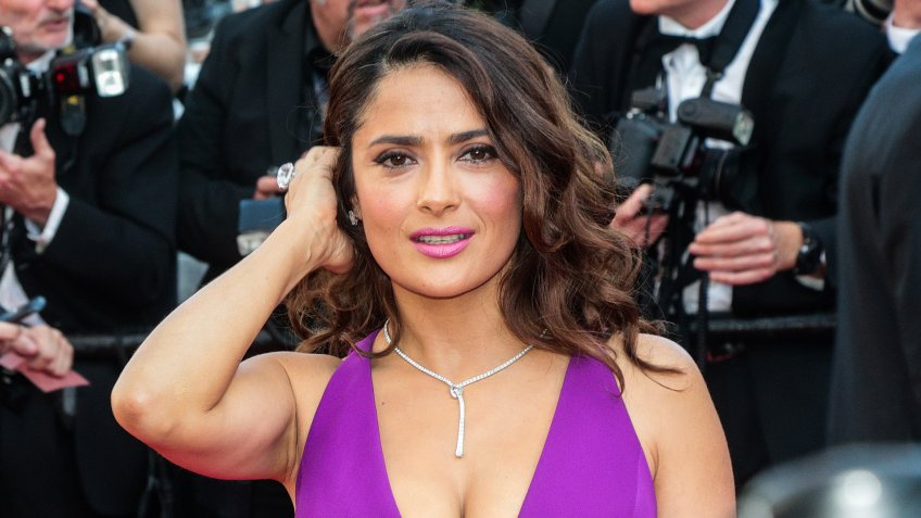 Salma Hayek attend the 'Carol' premiere during the 68th annual Cannes Film Festival on May 17, 2015 in Cannes, France.