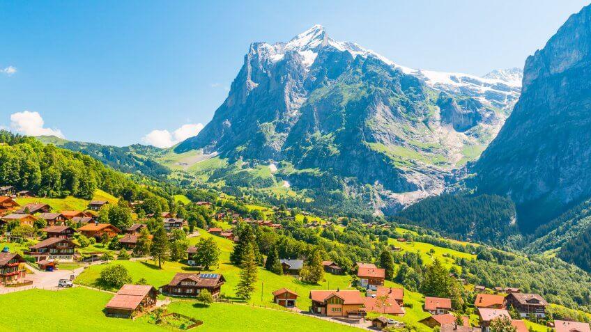 Grindelwald is a village in the Interlaken Oberhasli district in the canton of Berne in Switzerland.