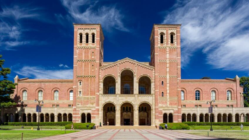 Los Angeles, United States - October 4, 2014: Royce Hall on the campus of UCLA.