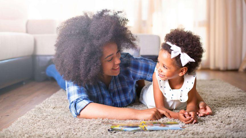 family, carpet, book, reading, hone.