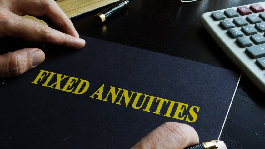 person working with a fixed annuity