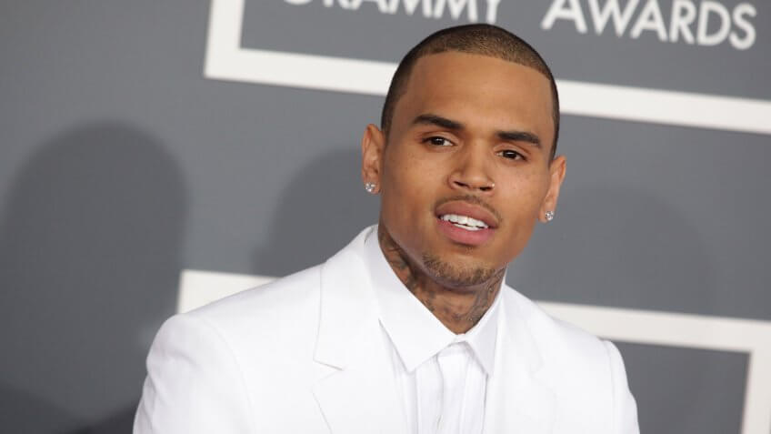 LOS ANGELES - FEB 10: Chris Brown arrives to the 2013 Grammy Awards on February 10, 2013 in Hollywood, CA.