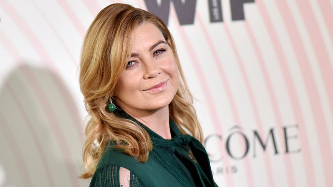 LOS ANGELES - JUN 13: Ellen Pompeo arrives for the WIF 2018 Crystal + Lucy Awards on June 13, 2018 in Beverly Hills, CA.