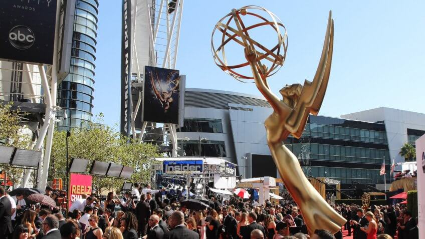 LOS ANGELES - SEP 23: Emmy statues at the 64th Primetime Emmy Awards held at Nokia Theater L.