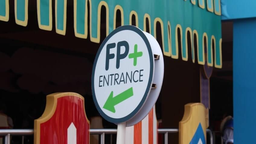 Fastpass system at Disney World
