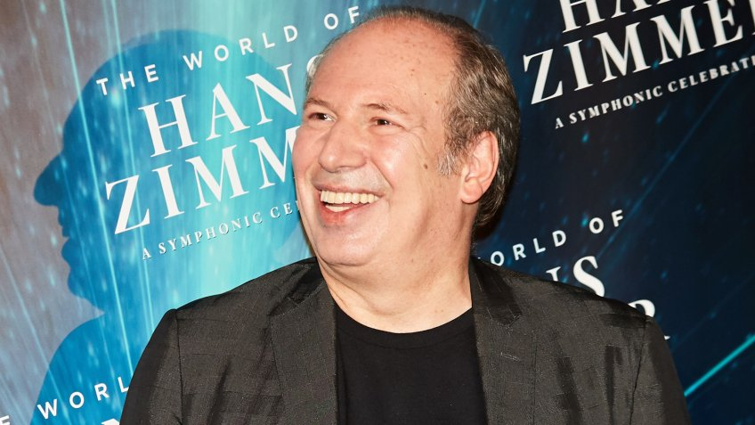 German film score composer Hans Zimmer poses during a photocall prior to his concert 'The World of Hans Zimmer'