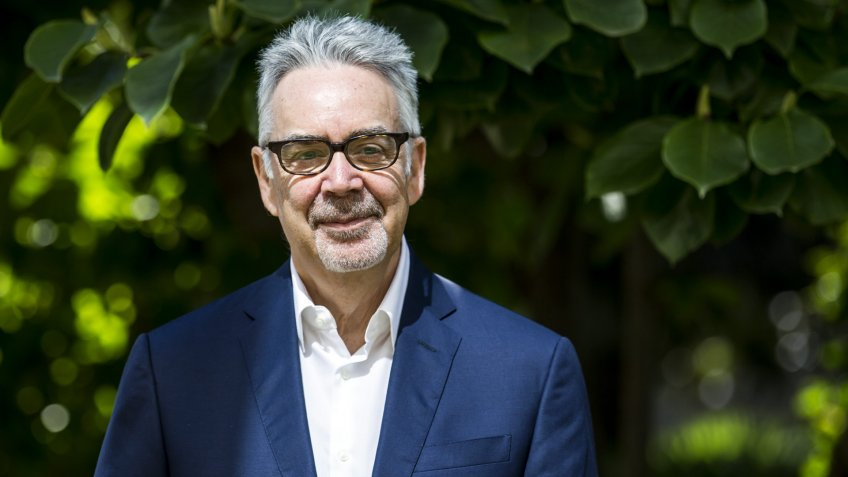 Canadian Composer Howard Shore Poses During a Photocall where He Received the Award ' Vision Award Nescens' at the 69th Locarno International Film Festival in Locarno Switzerland