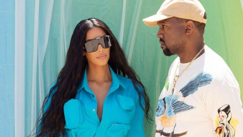 Mandatory Credit: Photo by Broadimage/REX/Shutterstock (9724497ah)Kim Kardashian, Kanye WestLouis Vuitton show, Front Row, Spring Summer 2019, Paris Fashion Week Men's, France - 21 Jun 2018.