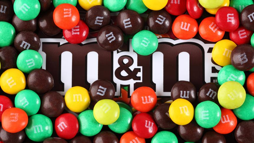 """""""Tambov, Russian Federation - August 26, 2012: M&M's candy on M&M's brand."""