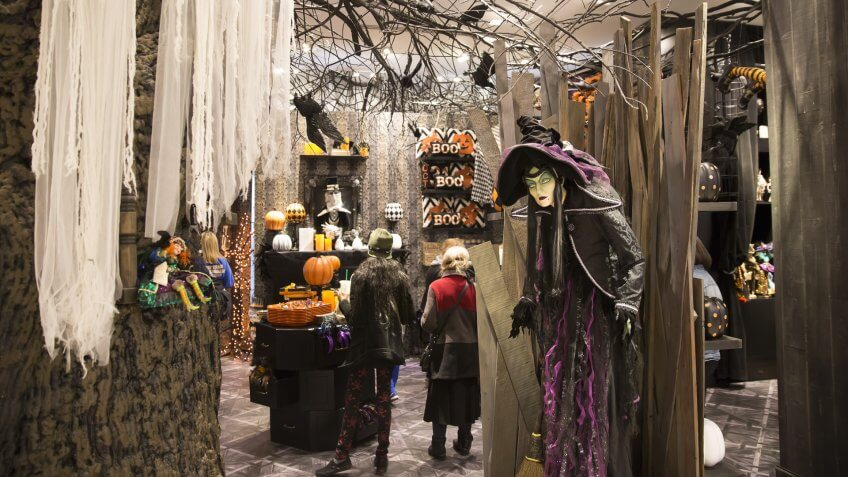 Macys Halloween themed store