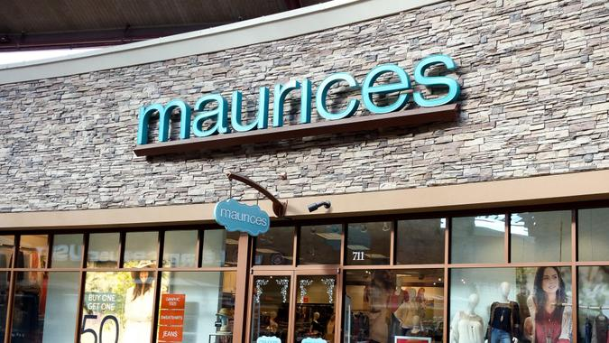 Woodburn, OR, USA - February 2, 2016: Maurices is an American women's clothing retail chain based in Duluth, Minnesota.