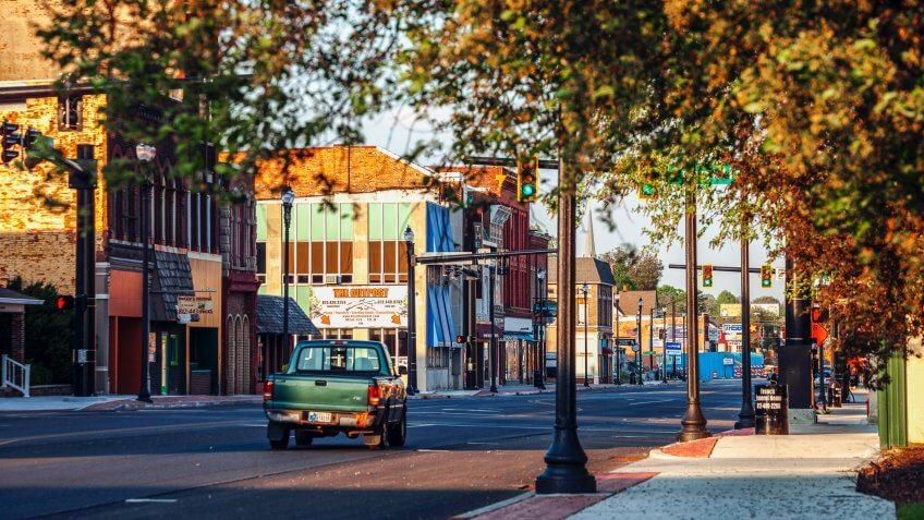 Terre Haute historic downtown.
