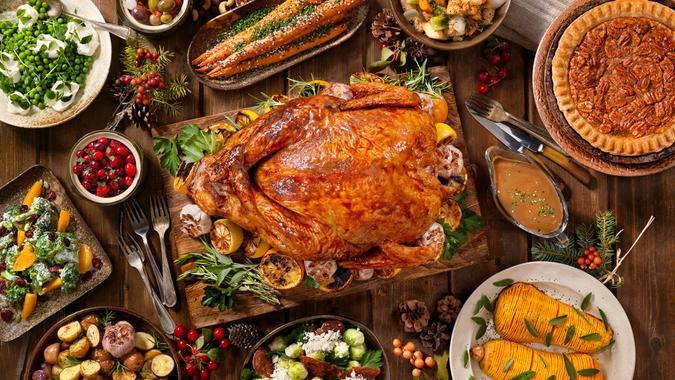 Maple Glazed Turkey Dinner.