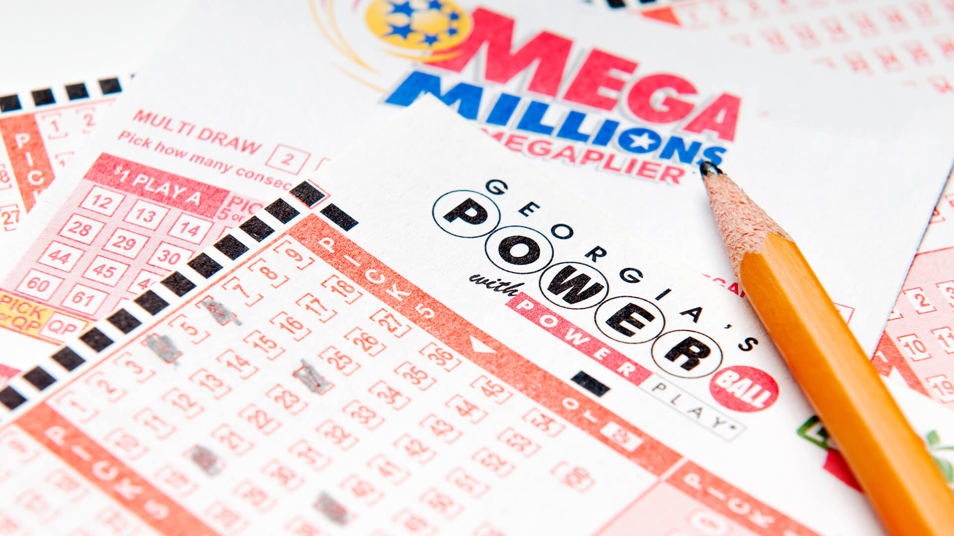 Alpharetta, GA, USA - Feruary 01, 2014 - Powerball and Mega Million lottery forms.
