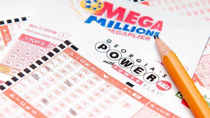 Alpharetta, GA, USA - Feruary 01, 2014 - Powerball and Mega Million lottery forms.