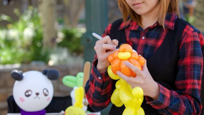 making balloon animals