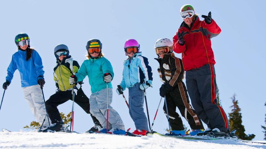 Ski school group.