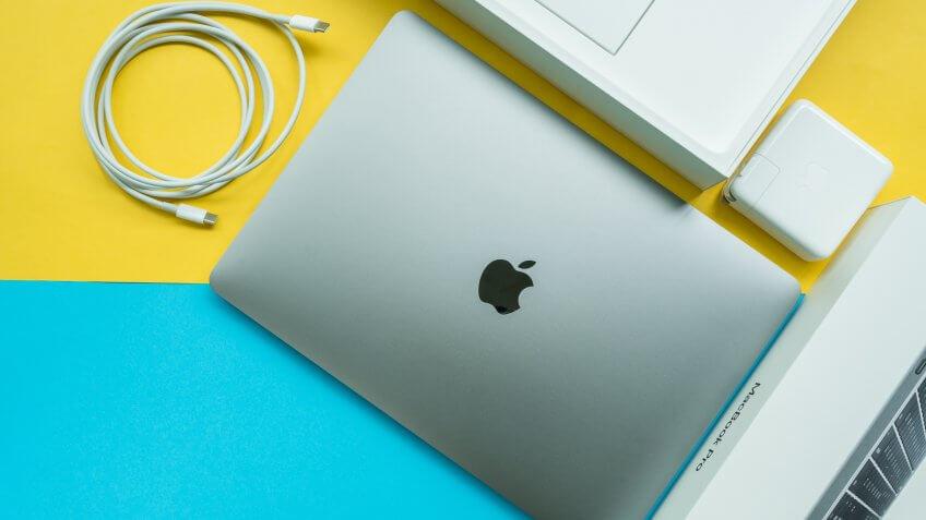 Apple Macbook Pro product flat lay