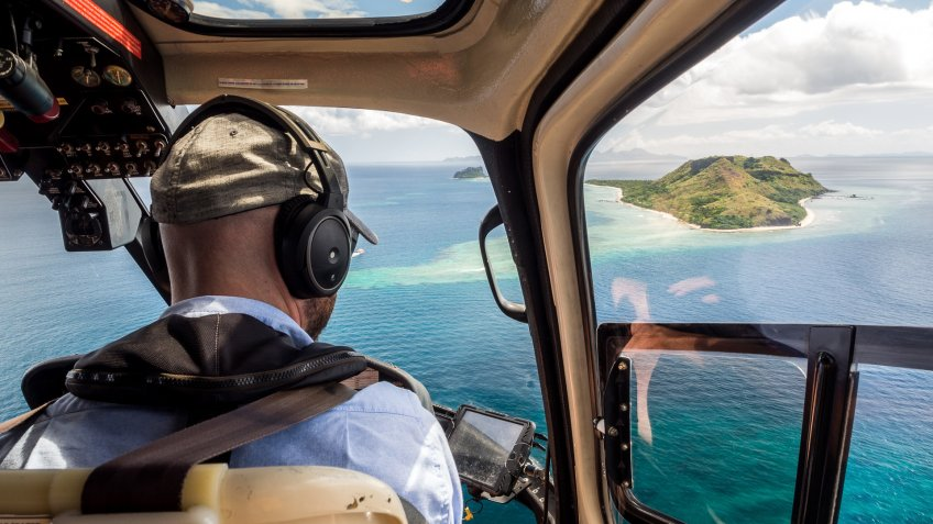 Fiji helicopter ride