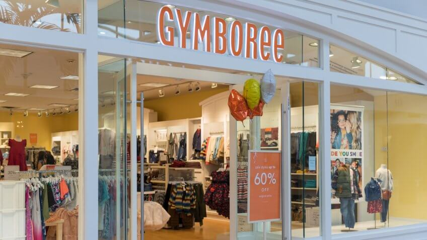 Gymboree store in shopping mall