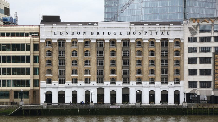 LONDON, UK - APRIL 22, 2016: London Bridge Hospital in the UK.