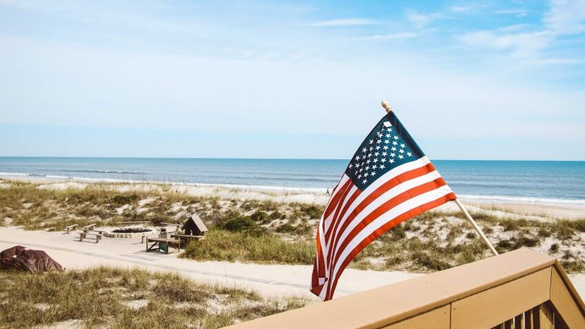 Jacksonville, United StatesPatriotic photograph taken along the Atlantic coast in Jacksonville Florida.
