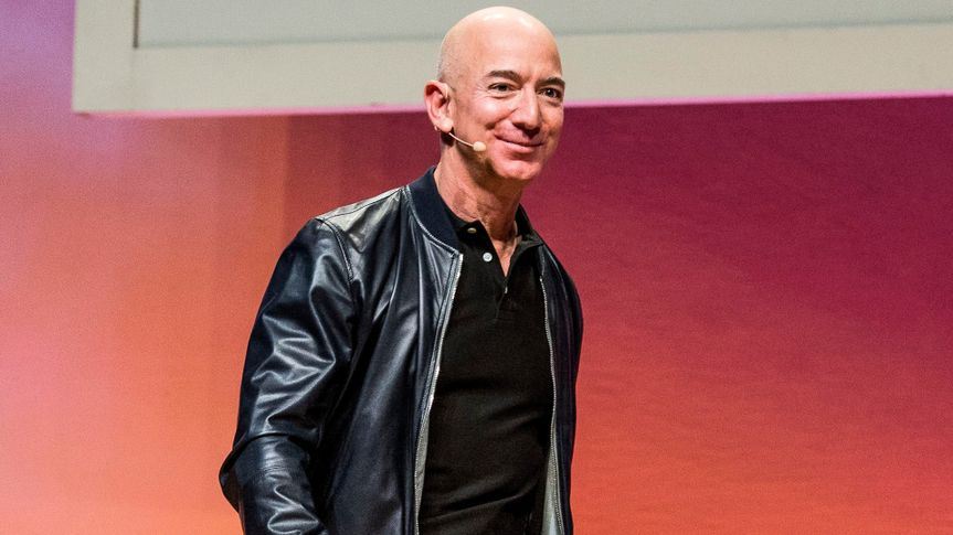 Jeff Bezos seen on day two of Summit LA17 in Downtown Los Angeles's Historic Broadway Theater District