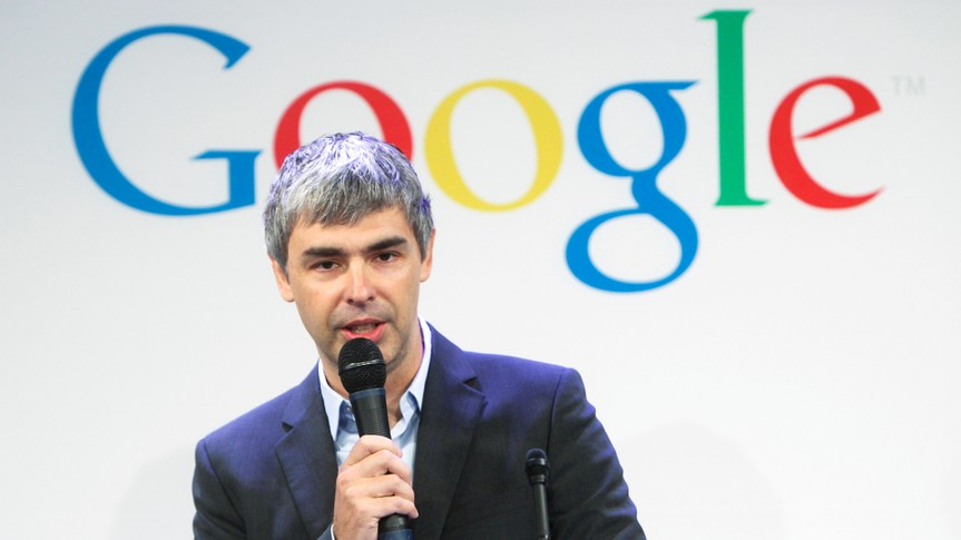 Mandatory Credit: Photo by Seth Wenig/AP/REX/Shutterstock (5960530p)Larry Page Google CEO Larry Page speaks at a news conference at the Google offices in New York, .