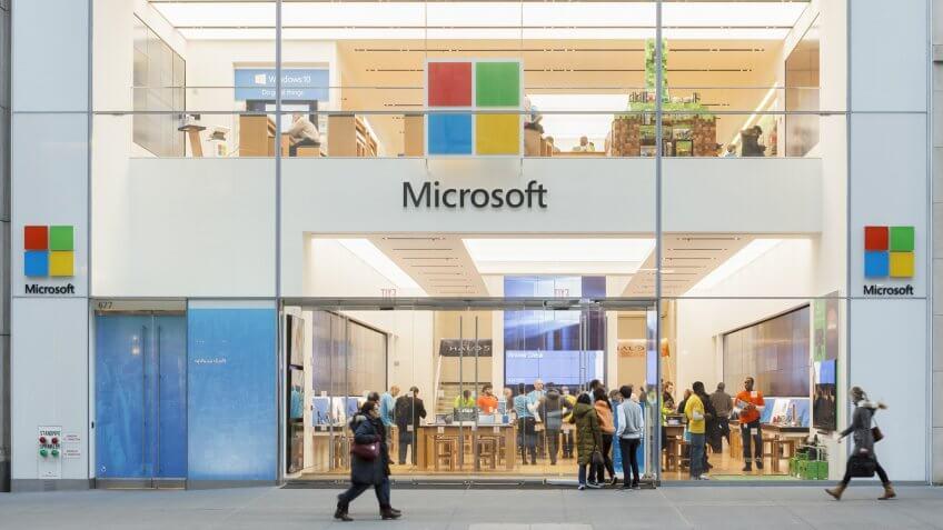 Microsoft store in New York City