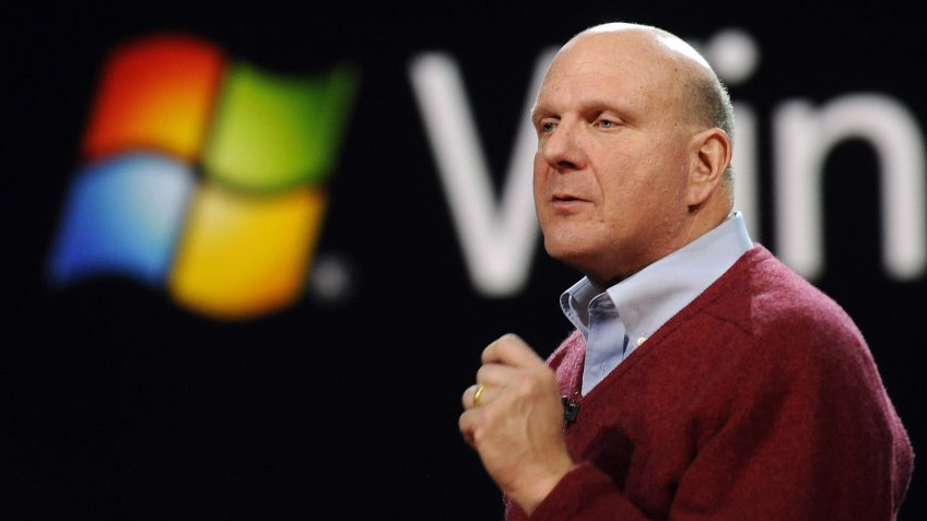 Mandatory Credit: Photo by Andrew Gombert/EPA/REX/Shutterstock (7717871q)Microsoft Chief Executive Steve Ballmer During His Keynote Speach at the 2010 Consumer Electronics Show (ces) in Las Vegas Nevada Usa 06 January 2010 Ces Runs From January 7-10 United States Las VegasUsa Ces - Nov 2009.