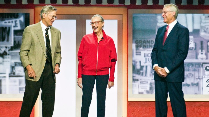 Mandatory Credit: Photo by April L Brown/REX/Shutterstock (9762941a)Jim Walton, left, Alice Walton, center, and Rob Walton, right, children of Walmart Inc.