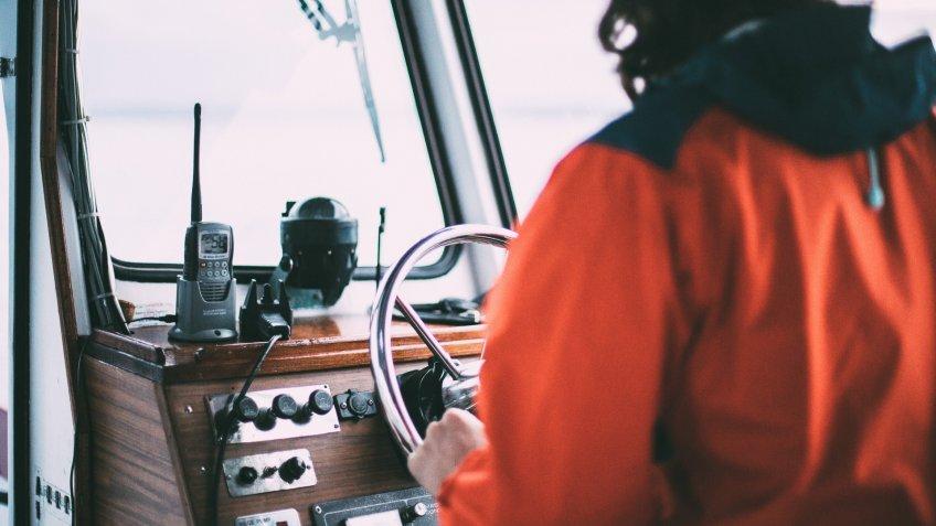 boat captain at sea