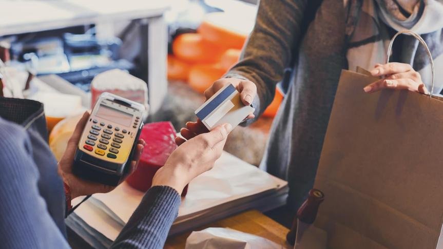 Retail, credit card payment service.